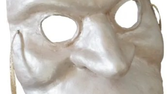 Paper Mache Bauta Mask