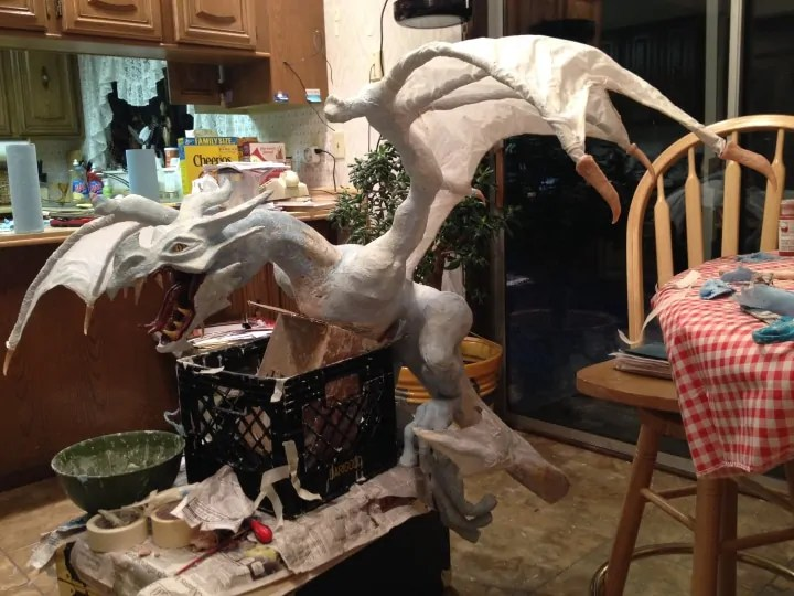 Lower jaw attached to the dragon