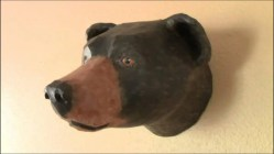 Pattern for Black Bear Wall Sculpture