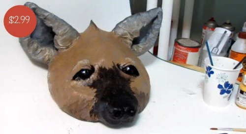 Pattern for a Hyena Mask