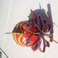 Paper Mache Fish, Painted and Decorated