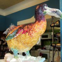 Painted undercoat on dodo sculpture