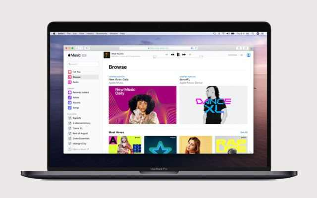 Apple Music sur le web