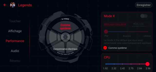 asus rog phone 2 interface mode x