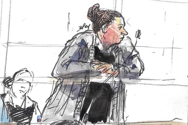 Inès Madani, lors d'un précédent procès pour association de malfaiteurs terroriste, en avril 2019 à Paris.