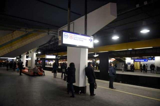 Sur un quai du RER A, en janvier 2015.
