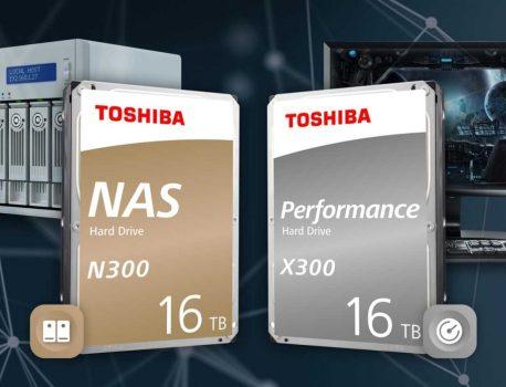 Disques durs N300 et X300, Toshiba annonce du 16 To
