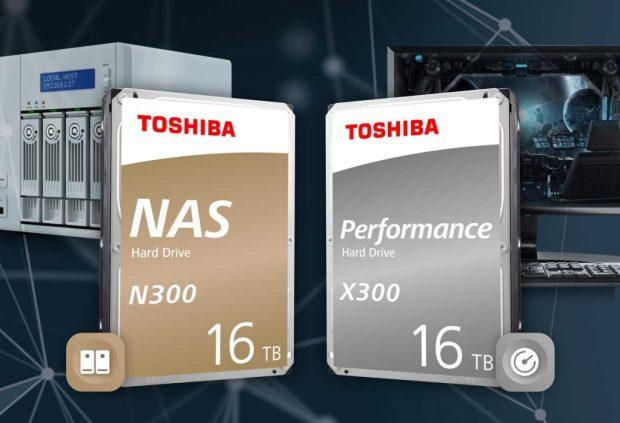 Disques durs NAS N300 et Performance X300 de 16 To de Toshiba