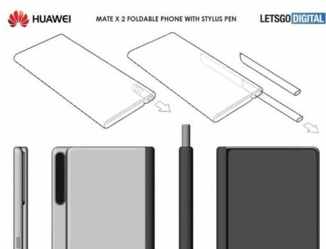 Huawei Mate X 2 foldable phone may arrive with a stylus