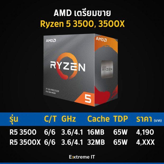 Processeurs Ryzen 5 3500X et 3500 d'AMD