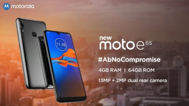 Moto E6s coming to India on September 16