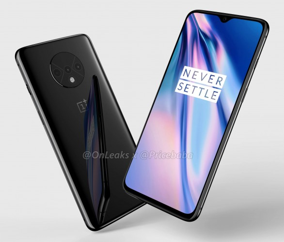 Leaked render of the OnePlus 7T