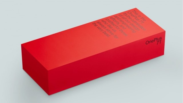 Photo of OnePlus 7T retail box shared by the company's CEO