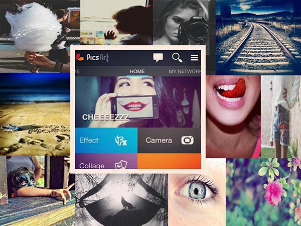 picsart photo collage studio iphone ipad 2 - PicsArt Collage iPhone iPad - Création Photo et Video (gratuit)