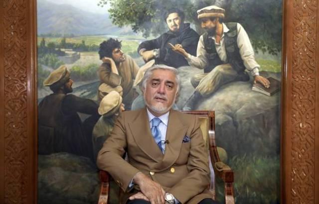 Abdullah Abdullah, candidat à l'élection présidentielle, le 26 septembre 2019 à Kaboul.