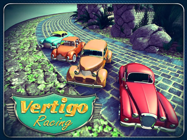 vertigo racing jeu iphone ipod touch ipad 01 - Vertigo Racing iPhone iPad - Course Automobile Retro en 3D (gratuit)