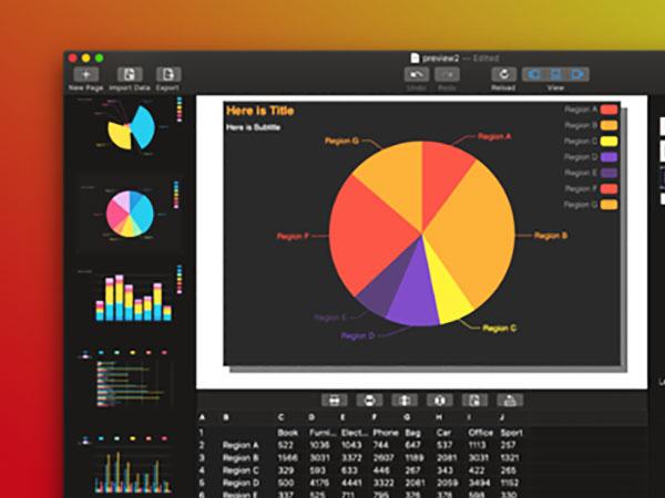 zcharts chart maker macos mac 02 - ZCharts Chart Maker Mac - Générateur de Graphiques Statistiques (gratuit)
