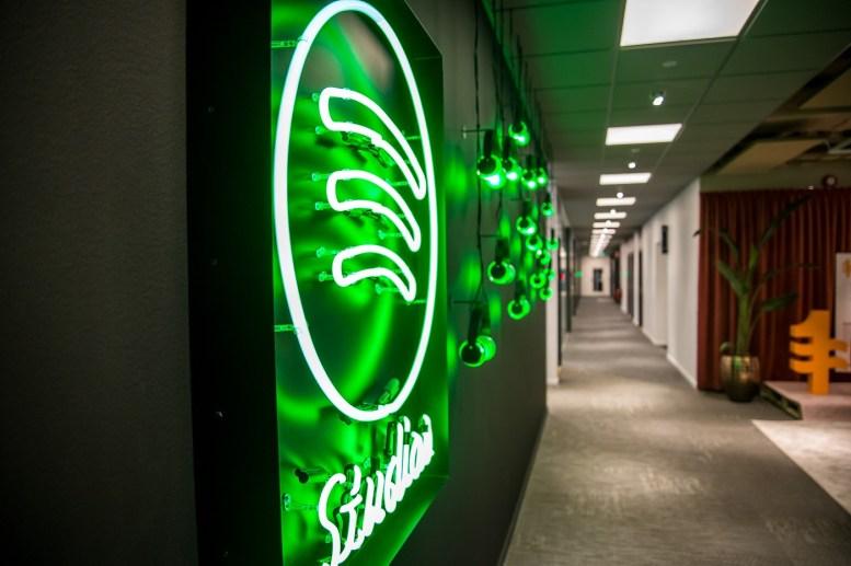 Dans les bureaux de Spotify