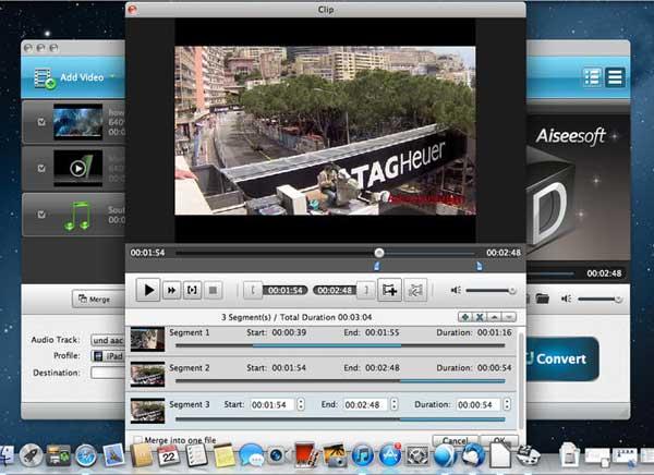 MP4 Converter Mac OSX 1 - Aiseesoft MP4 Converter Mac - Editeur et Convertisseur Video (gratuit)