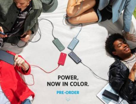 Anker unveils colored power banks, partnership with Amazon, Steelcase