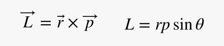 L equals r times p
