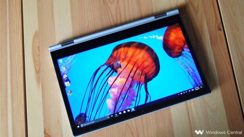 The Lenovo ThinkPad X1 Yoga.