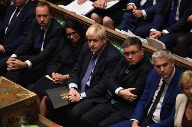 Boris Johnson lors des débats sur son accord de divorce avec l'Europe, à la Chambre des communes, le 22 octobre.