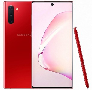Galaxy Note10 in Aura Black and Red