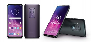 Motorola One Zoom in Electric Gray and Cosmic Purple