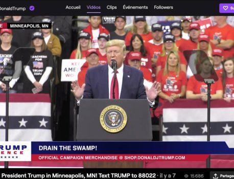 Donald Trump se met à Fortnite? En tout cas, il est maintenant présent sur Twitch