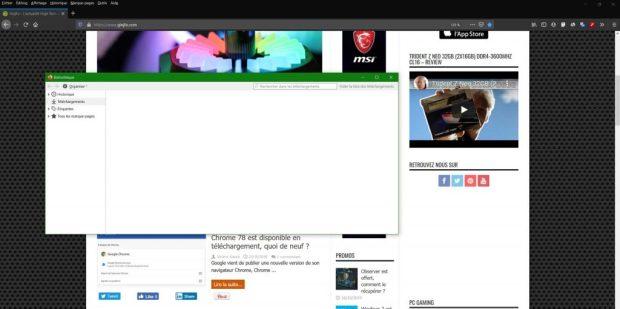 Firefox 70 et le mode sombre