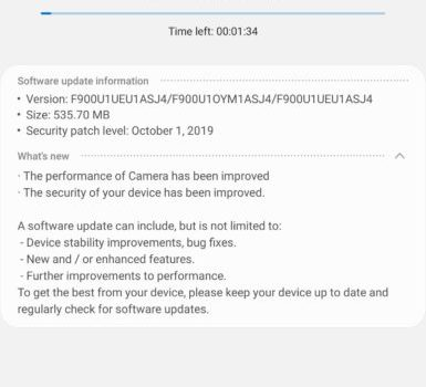 Galaxy Fold gets new update and October 2019 security patch in USA