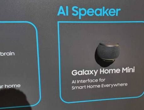 Galaxy Home Mini displayed at Samsung Developer Conference