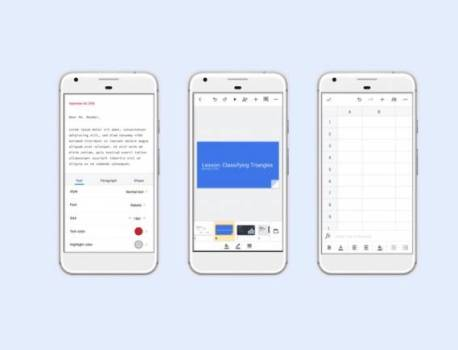 Google Docs, Slides, and Sheets for Android getting an update