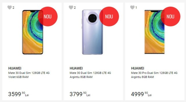 Huawei Mate 30 and Mate 30 Pro show up in a store in Romania