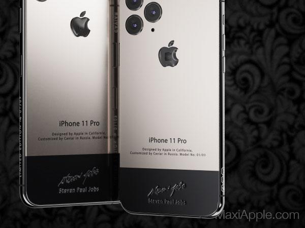caviar iphone 11 pro superior jobs maxiapple 03 - iPhone 11 Pro en Hommage à Steve Jobs chez Caviar