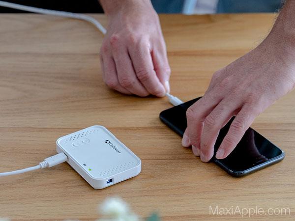 bijou mini projecteur video hd iphone ipad maxiapple 03 - Le Plus Petit Video Projecteur HD pour iPhone (video)