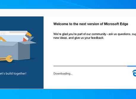 Microsoft Edge Stable (Chromium) est disponible en télécharge ment