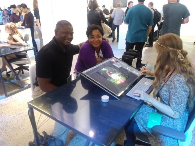 Jason Ward and wife at Microsoft's 2019 Surface event