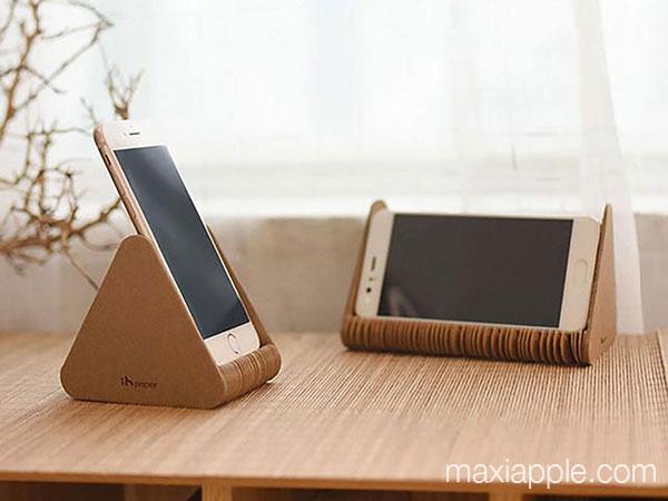 paper stand dock accordeon carton iphone ipad maxiapple 05 - Mini Dock Accordéon en Carton pour iPhone iPad (video)