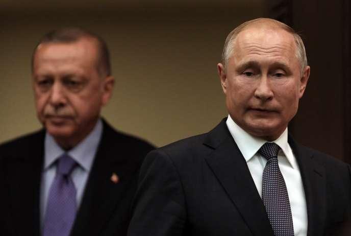 Le président turc Recep Tayyip Erdogan et son homologue russe Vladimir Poutine, le 16 septembre à Ankara.