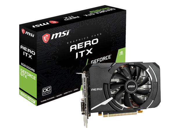 La GeForce GTX 1660 SUPER AERO ITX de MSI
