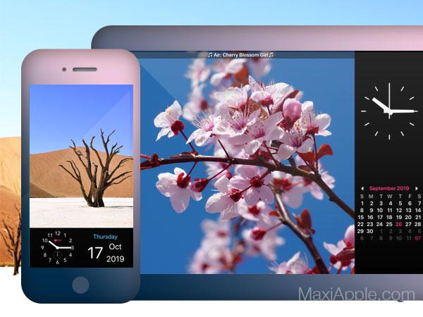 photo frame calenda iphone ipad 01 - Photo Frame Transforme iPhone iPad en Cadre et Calendrier (gratuit)