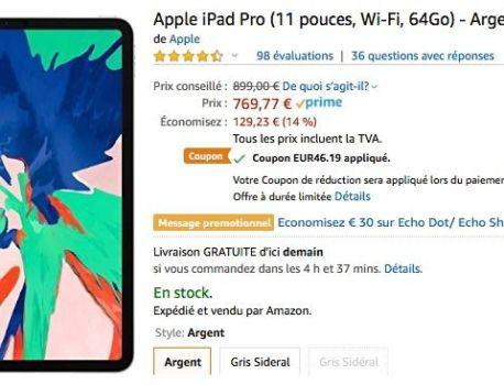 Promos : -130 à -275 € sur les iPad Pro 2018 – iGeneration