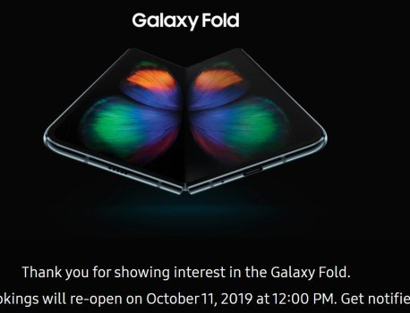 Samsung will reopen Galaxy Fold pre-bookings in India on October 11