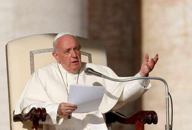 Le pape François lors d'une assemblée générale au Vatican, le 23 octobre.