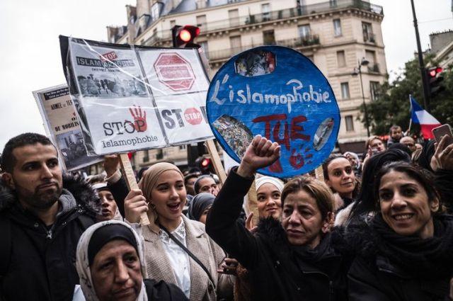 Marche contre l'islamophobie à Paris le 10 novembre.