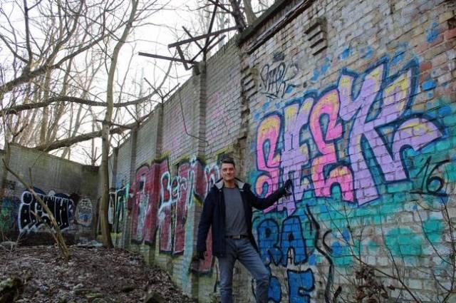 Christian Bormann a révélé qu'il avait découvert un pan du mur de Berlin en 2018.
