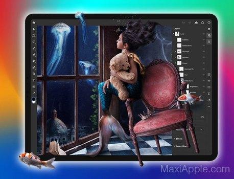 Adobe Photoshop Original Dispo sur iPad Pro (video)