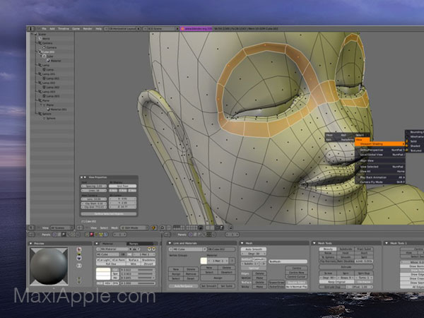 blender 3d 2 macos mac gratuit 03 - Blender 2 Mac - Création et Animation 3D Pro (gratuit)